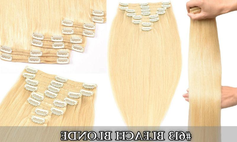"""Hair Extensions Double Human Hair Full Clip Ins 20"""""""