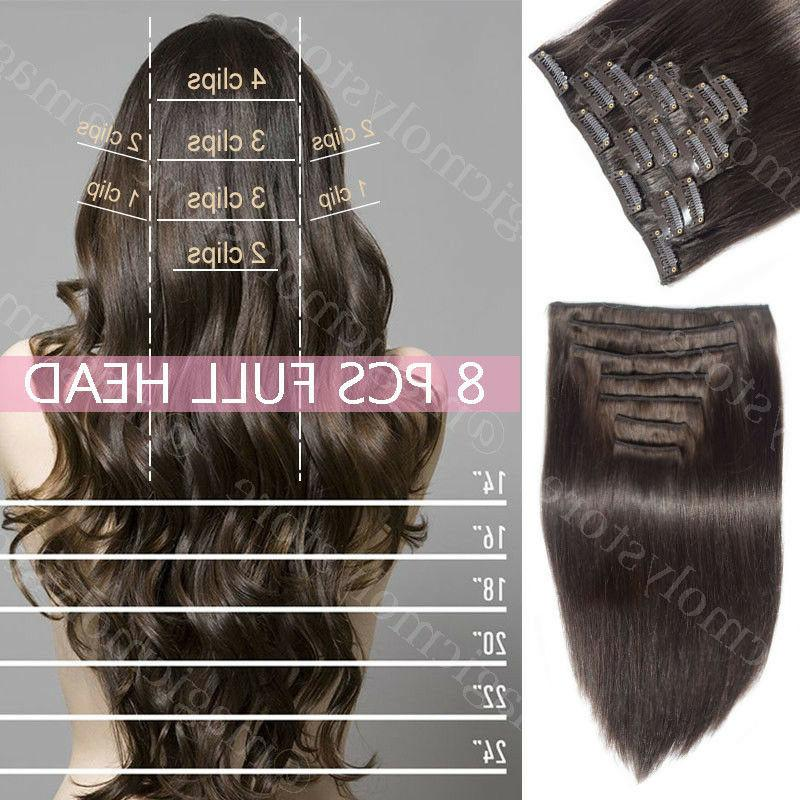 Hair Real Human Long Black Brown P