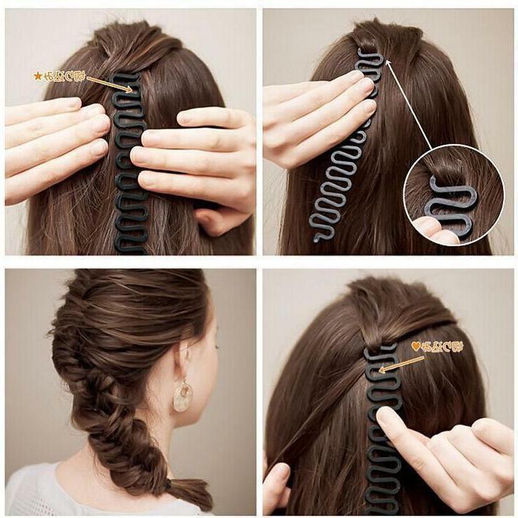 Hair French Braid Clip Magic Bun Maker