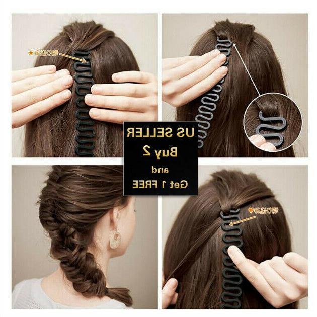 hair french braid clip magic styling stick