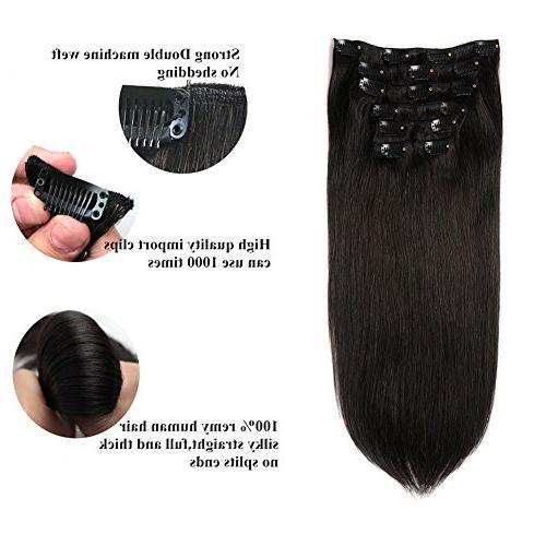 hair virgin brazilian clip