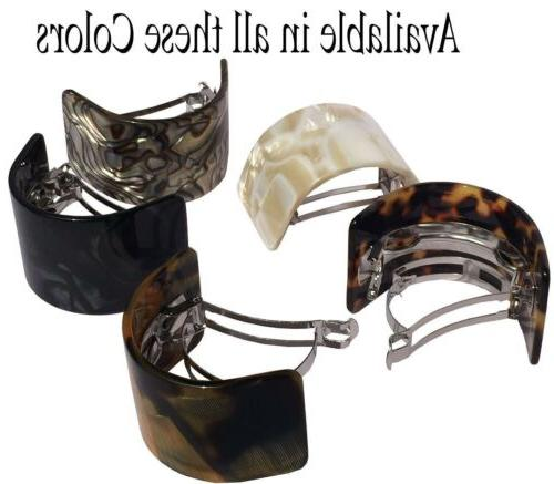 French Curved Onyx Hair Clip