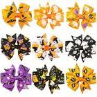 Halloween Hair Bows Boutique clips Grosgrain Ribbon with Gho