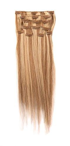 Donna Bella Hair Full Head Human Clip-In Hair Extensions Col