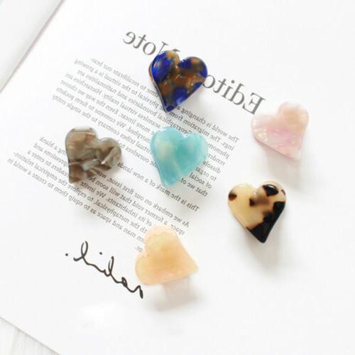 Heart-shaped Claw Mini Hair Clip Original Natural Stones Gra