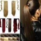 High Quality Clip In human Hair Extensions Wrap Around Ponyt