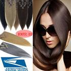 High Quality Clip in Remy Human Hair Extensions Full Head Na