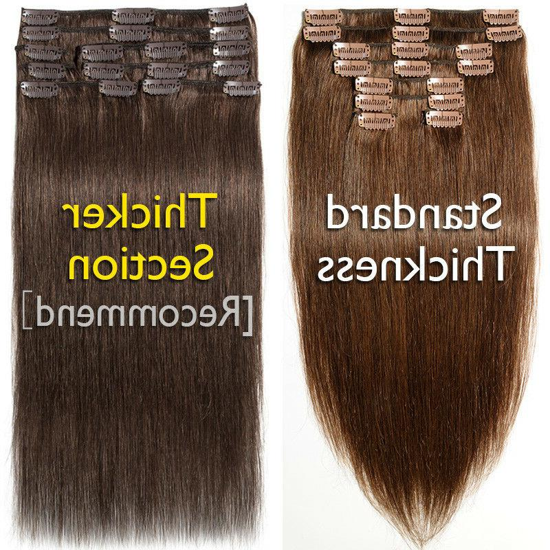 Indian 8A Human Hair in Hair Pieces Full Head Thick