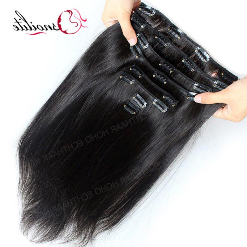 Indian Hair Clip Hair Extensions Full Thick