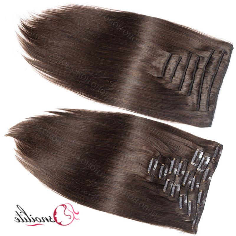Indian 100% Human Hair Clip in Remy Hair Full Thick