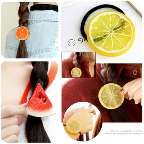 Hot Fruit Apple Rope Tie Ponytail Holder Hairband