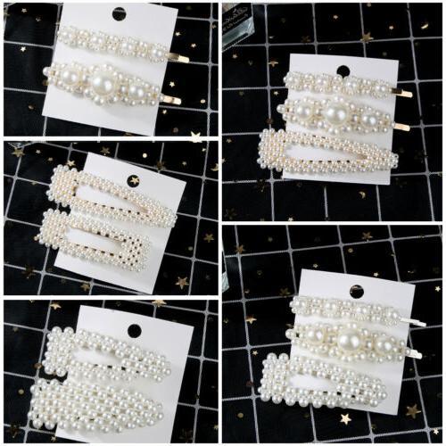 hot elegant pearl barrettes hair clip hairpin