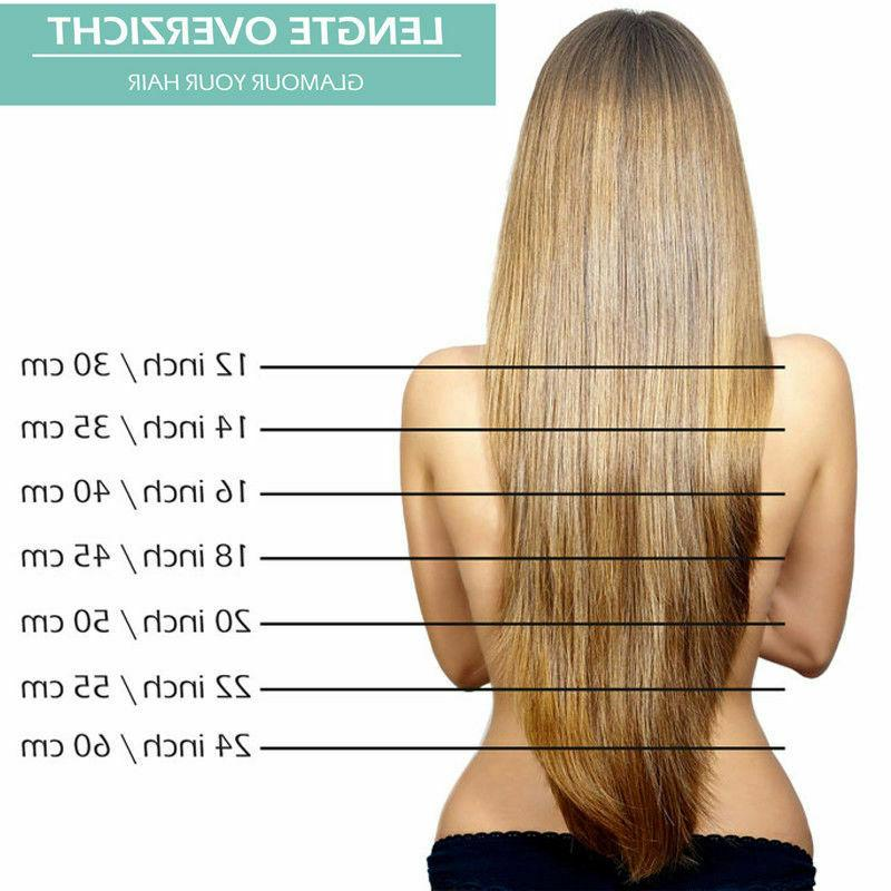 Human Hair Ins 100% Extensions Ombre Weft