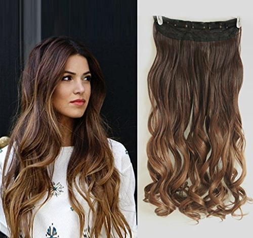 inches wavy 3 4 full head clip hair extensions ombre one pie