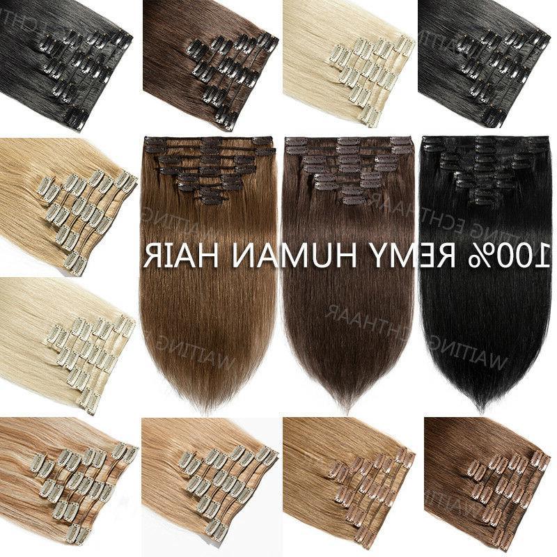 indian 8a 100 percent human hair clip