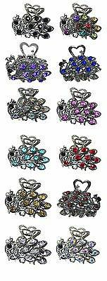 Bella Jaw Clip Hair Clip Design Phoenix Sparkl'g Stones Silv
