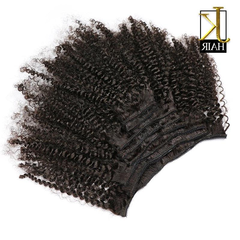 JK <font><b>Hair</b></font> Mongolian Kinky Remy <font><b>Hair</b></font> In <font><b>Hair</b></font> Natural Full Head 8Pcs/Set 120G Ship Free