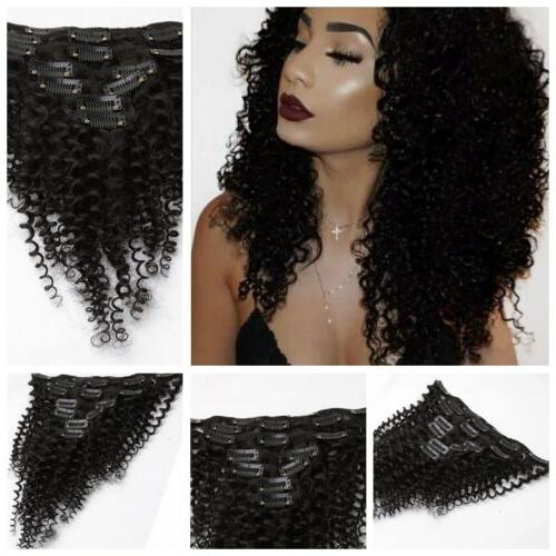 Kinky Curly in Extensions Head Hair