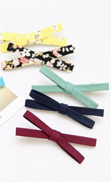 Korean Style Bowknot Girls Barrette Accessories Hairpin