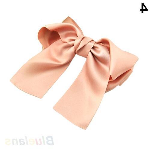 Korean Women Ribbon <font><b>Hair</b></font> Barrette Ponytail Holder Hot