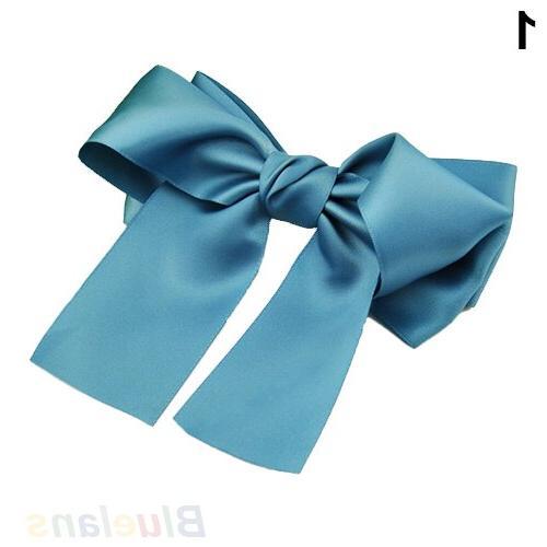 Korean Ribbon <font><b>Hair</b></font> Barrette Ponytail Hot Sale 018Z