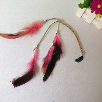 6PCS Women Handmade Extensions with Feather Com