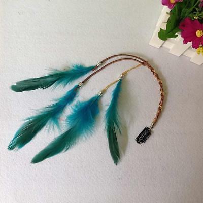 6PCS Handmade Boho Hippie Hair Extensions with Clip Com