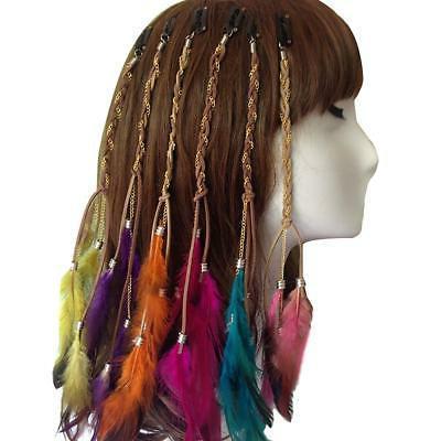 lady girls handmade boho hippie hair extensions