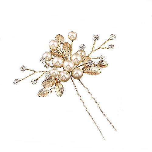 leaf bridal hairpins wedding hair