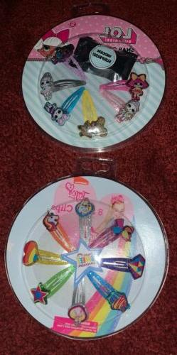 lol surprise and jojo siwa hair clips new in packages!