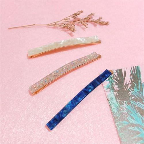 Long Barrettes Acetic Hair Clips