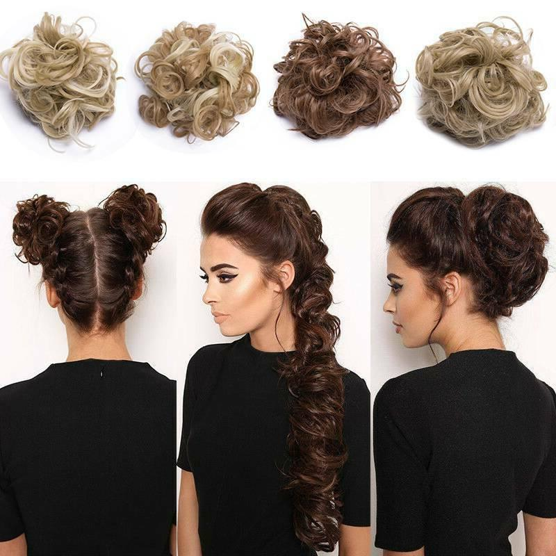 Long Wavy Scrunchie Ponytail Hair Extension Large Chignon As