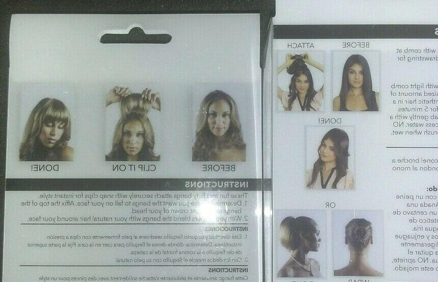 LOT 2 REVLON Hair Clip-lok BANGS Bun Wiglet