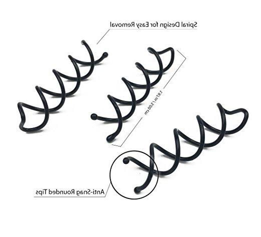 Lot Styling Spiral Spin Pin Twist Barrette Black