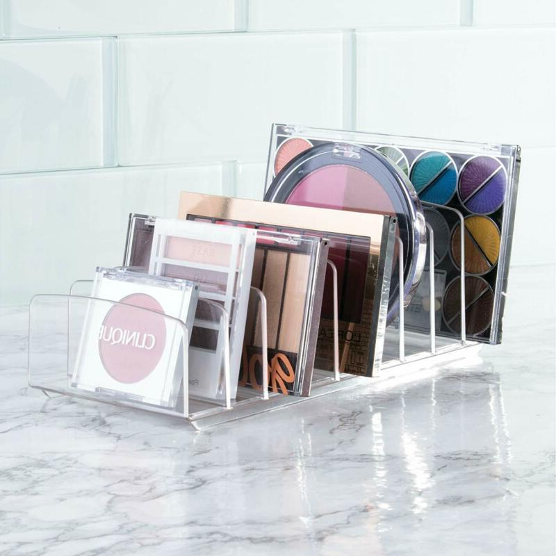 Makeup Holder Organizer For Vanity, Palettes Organizer Storage–Clear–9
