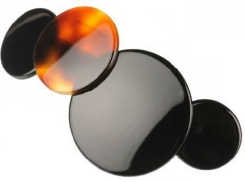 medium love circles shell black medley handmade