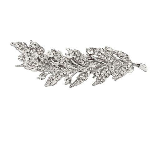 metal pave crystal tree branch leaf bridal