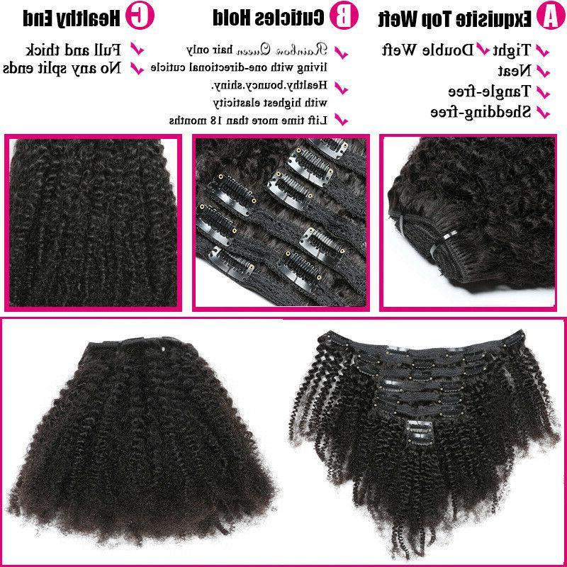 Mongolian Hair Clip 100% Human Hair Extensions 120g US