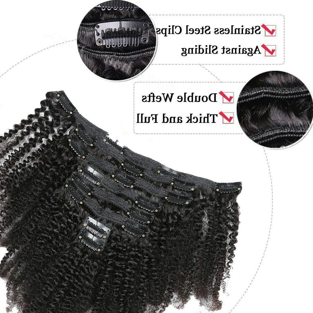 Mongolian Curly Hair in Human Extensions 8pcs 120g US