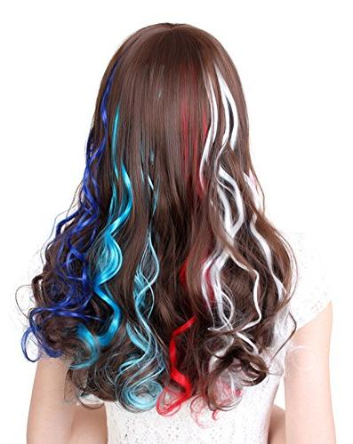 SWACC Colored Party in Extensions Hair Streak Hairpieces