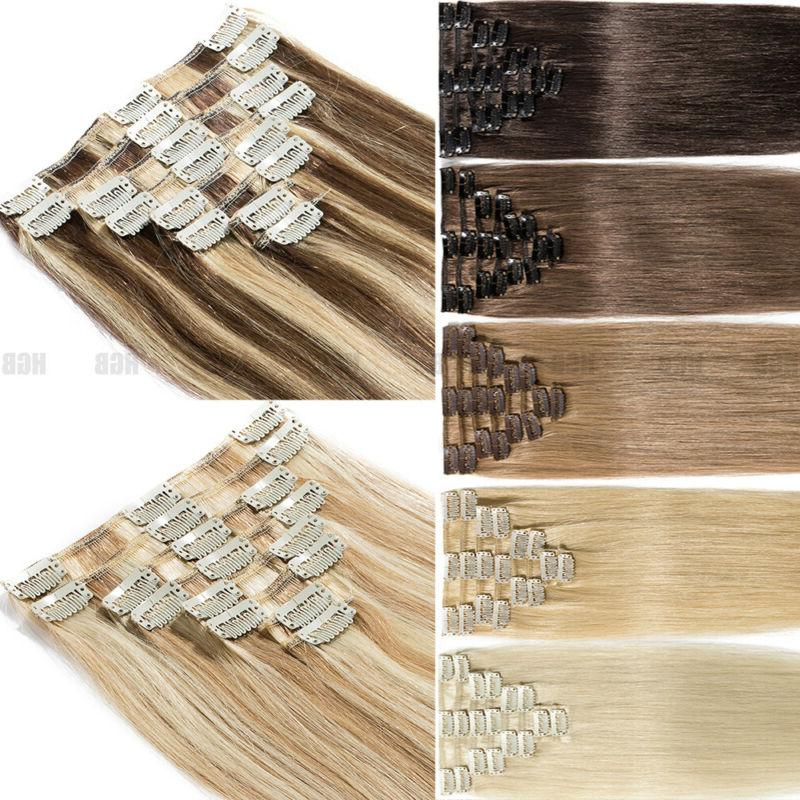 natural 7pcs clip in remy real human