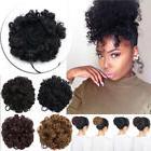 Natural Hair Afro Bun Ponytail Clip Kinky Curl Puff Drawstri
