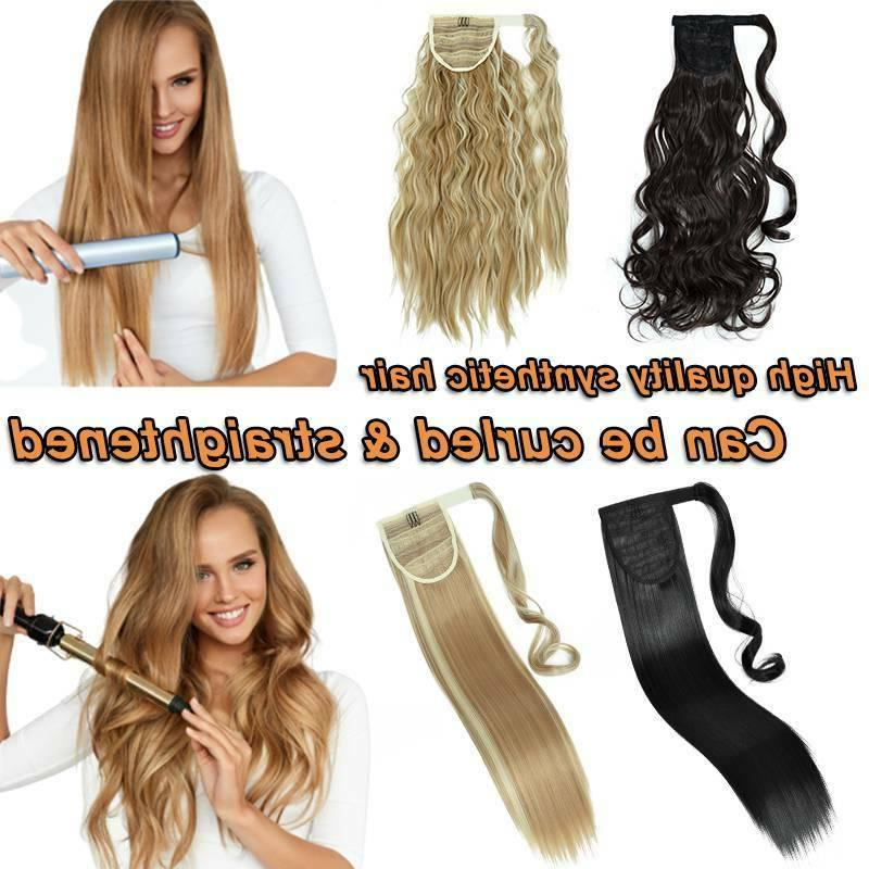 Natural Wrap Hair Clip Pony tail Extensions Human US
