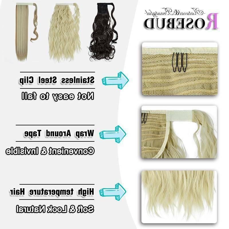 Natural Wrap Hair Clip tail Extensions Human US