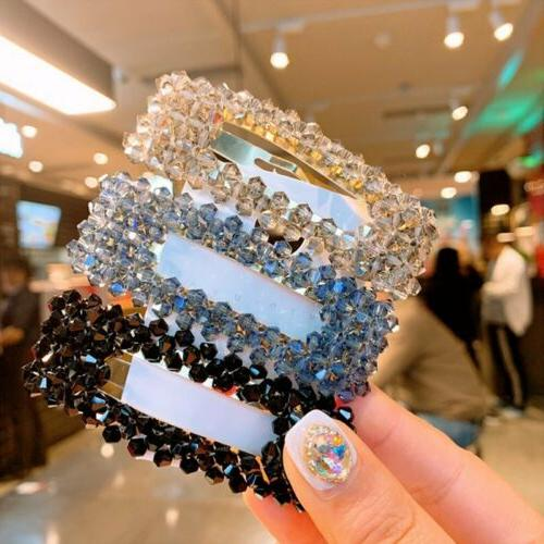 NEW Crystal Bead Hair Clip Hairband Comb Pin
