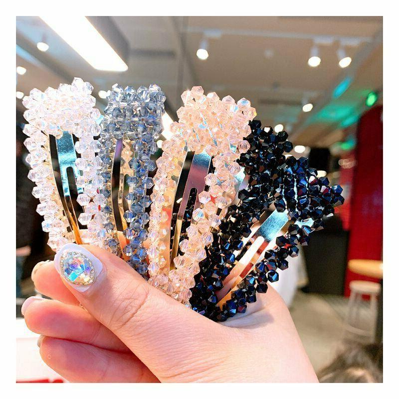 NEW Crystal Bead Clip Hairband Comb Bobby