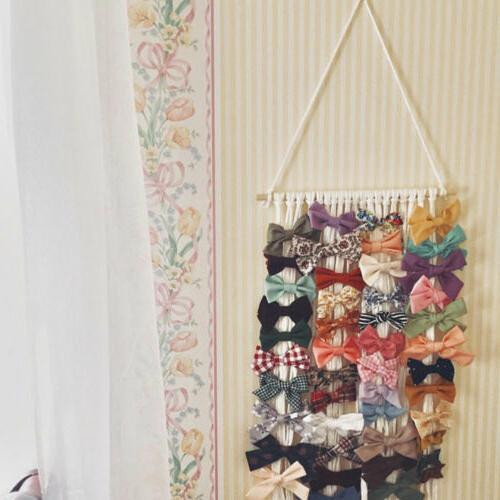 New Bow Holder Hanger Hair Clips Decor US