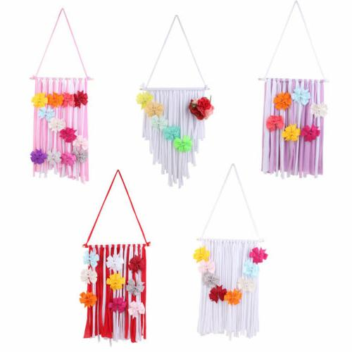 New Girls Kids Hair Bow Hanger Hair Clips Storage Organizer Decor