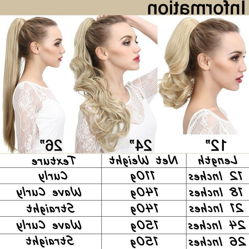 NEW Ponytail Clip Natural Hair Claw On For Human US
