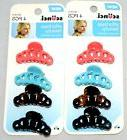 NEW Set Of 8 Pcs Scunci Effortless Beauty Claw Hair Clips As